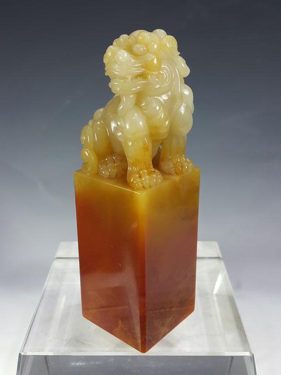 古兽寿山石巴林石 巧色印